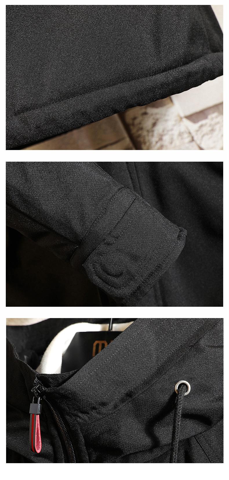 中长款棉衣男加大码加厚男士风衣外套 FY6006加棉-P88