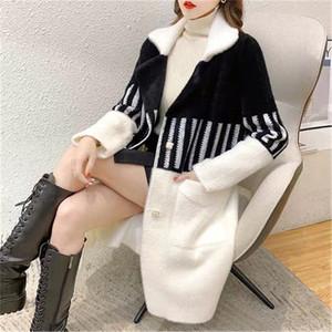 冬季韩版新款宽松水貂绒大衣气质长款