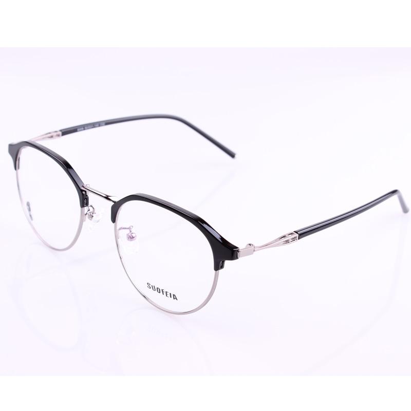 Polygonal eyebrow glasses frame men\'s models models ultra light ...