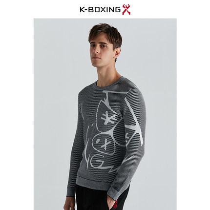 【专柜新品】劲霸男士羊毛衫祝发财系列冬季圆领针织毛衣CYYA4561