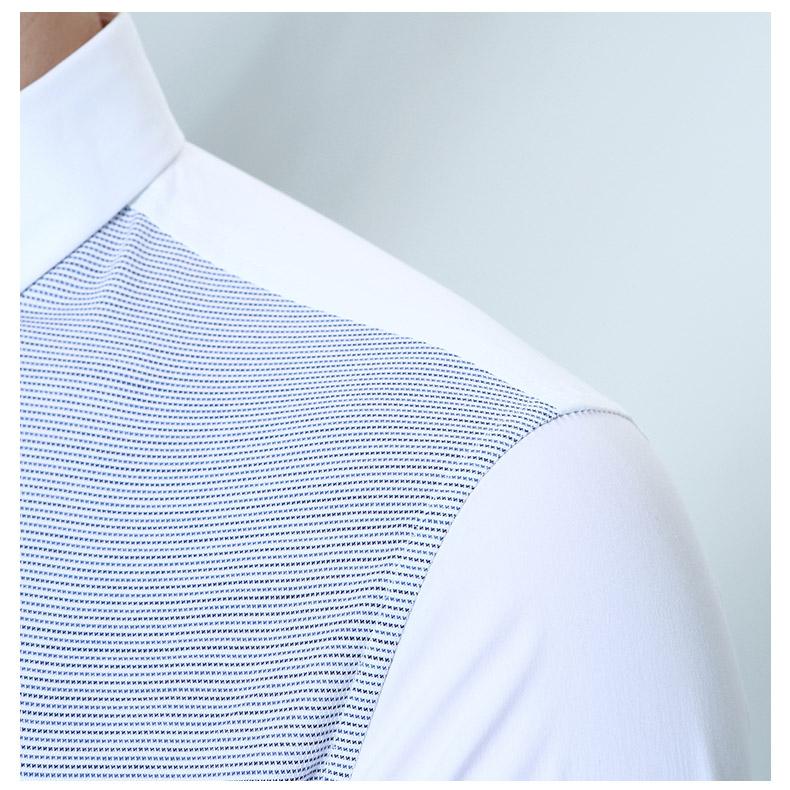 Jinba dài tay áo sơ mi giản dị sọc ve áo áo sơ mi nam dài tay áo mỏng bên trong áo khoác sơ mi