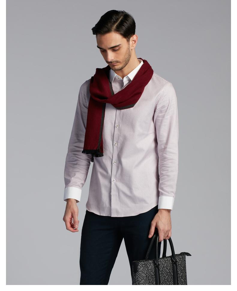 Jinba dài tay áo của nam giới jacquard sọc quý ông bầu không khí áo sơ mi nam thời trang áo sơ mi   baxj3532 sơ mi nam công sở
