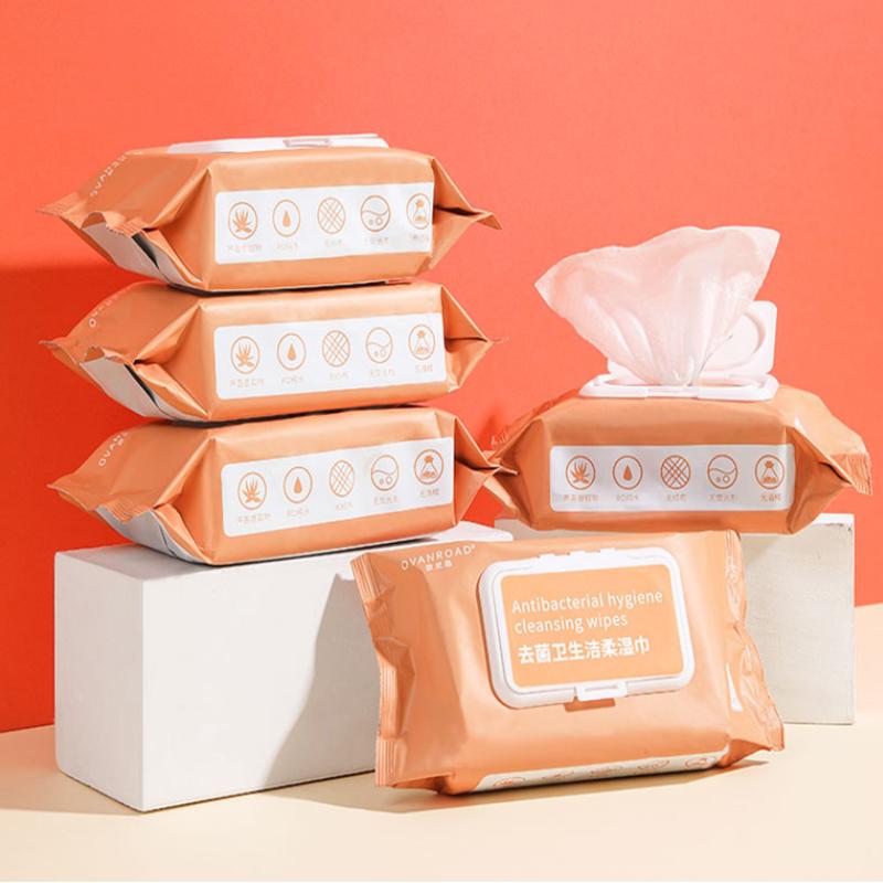 产妇湿巾产后专用女性怀孕期成人房事孕妇私处护理湿纸巾80抽*3包