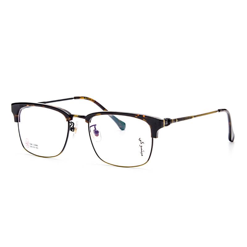 Anti-blue radiation glasses trend flat mirror no degree personality men and women with the same silver