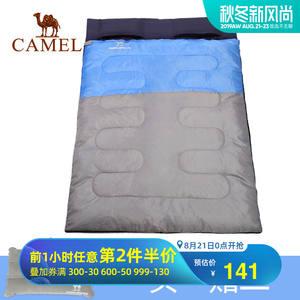 骆驼户外双人睡袋 旅行露营耐潮防寒保暖便携式室内隔脏大人睡袋