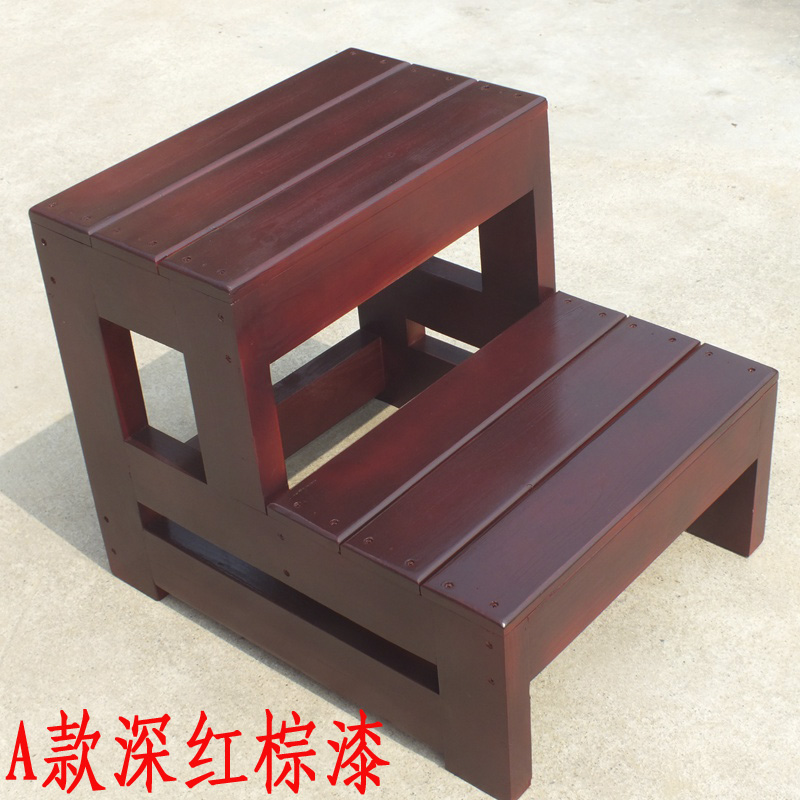 Surprising Usd 45 36 Home Ladder Solid Wood Three Step Bench Dual Use Pabps2019 Chair Design Images Pabps2019Com