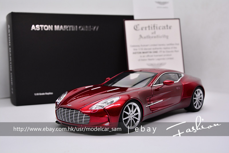 Name: Aston Martin ONE   77. Brand: AUTOart. Scale: 1:18. Color: (DIAVOLO  RED) Material: Alloy. Description: 2 Door Open (hood And Locker And All Can  Open ...