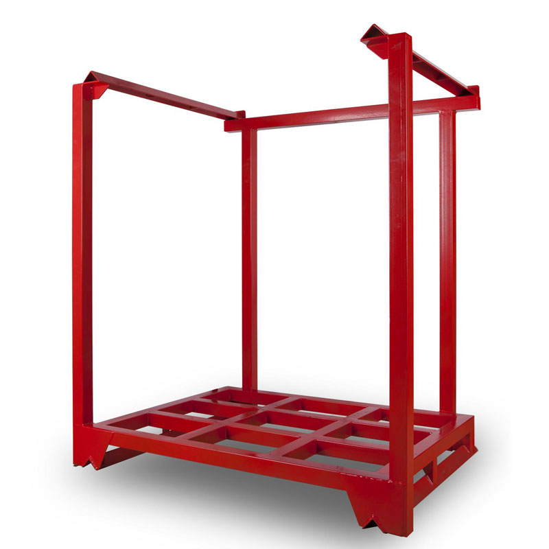 仓储货架堆垛架仓储笼定制巧固架蔬菜架周转箱角钢货架布匹架