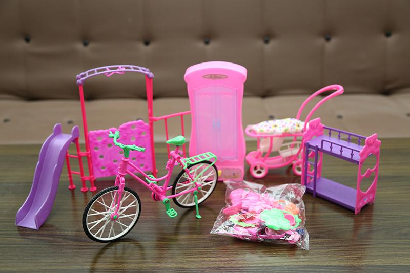 Trẻ em búp bê cô gái mô phỏng đám cưới nàng tiên cá công chúa đồ chơi quần áo giường hộp quà sinh nhật - Búp bê / Phụ kiện