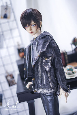 taobao agent endless denim jacket gray black bjd denim old top uncle sd17 male baby clothes male baby daily