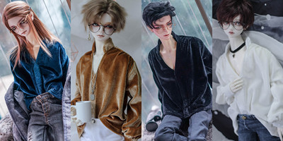 taobao agent 【endless】-Fallow-bjd doll top 3 points 4 points 17 male popo68 baby clothes