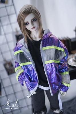 taobao agent [endless] LS--X laser transparent coat bjd baby coat top street daily coat 3 points uncle 17 male