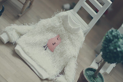 taobao agent 【endless】bjd/sd/dd/msd3 points daily sweater top Tsundere bird plush milky white sweater