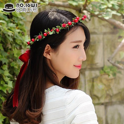 Korean bride and bridesmaid wreath head jewelry Mori female beautiful photo studio photography performance performance wedding accessories