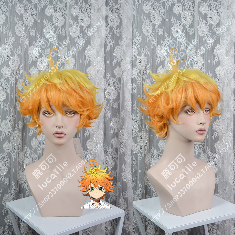 Bowinr The Promised Neverland Cosplay Wig Emma Japanese Anime Synthetic Hair Wig for Cosplay and Daily Use