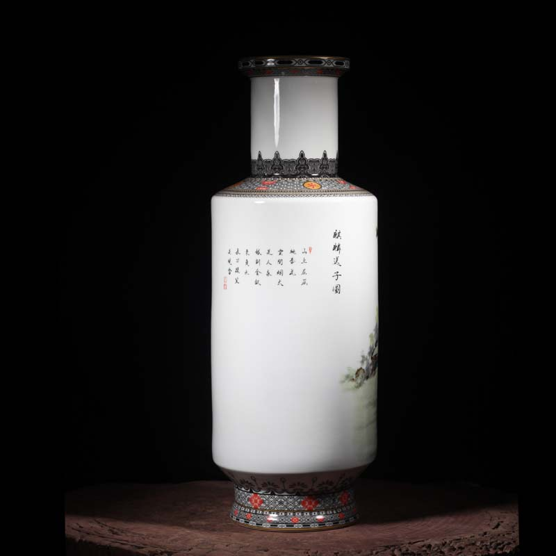 Jingdezhen best crane figure 60 cm high decorative vase kirin SongZi white snow wooden stick figure lady com.lowagie.text.paragraph vase