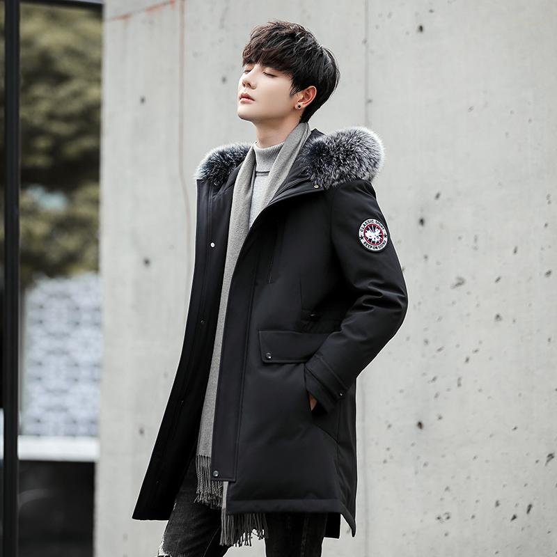 데일리룩 남자옷 롱 기모 오버핏 니트 다운 모던 슬림핏 화이트 재킷