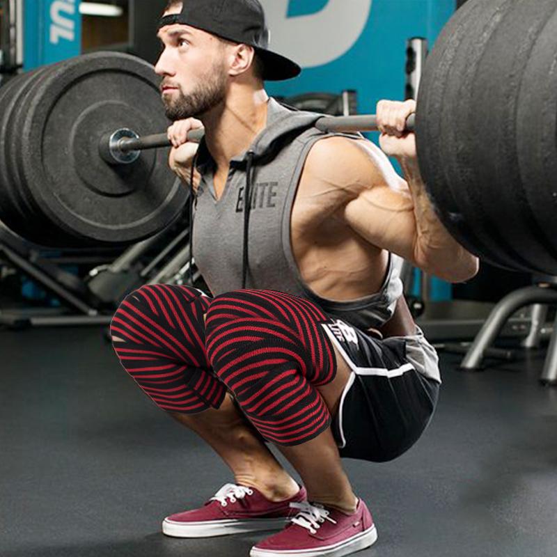 健身护膝男深蹲训练运动膝盖护具缠绕式弹力绷带绑腿力量举护膝带