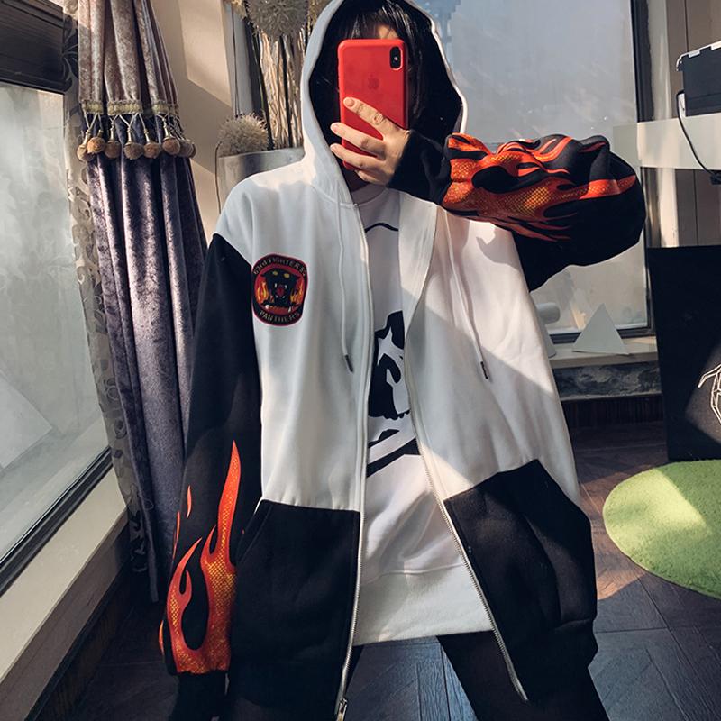 Hồng Kông hợp thời trang chụp hình áo len trùm đầu áo len lỏng lẻo phiên bản lớn lông cừu áo khoác giản dị mùa đông mới - Áo len