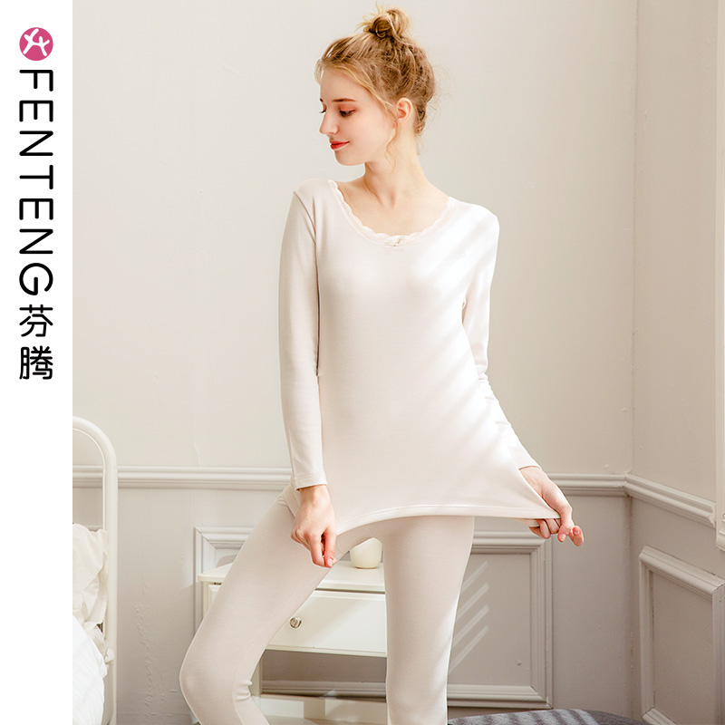 Finn Qiu Winter lady warm underwear body slimming autumn clothes autumn pants set sexy bottom tight cotton sweaters