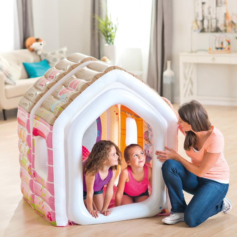 Газированный замок ребенок мультики палатка игра игрушка дом комнатный сложить принцесса дом морской мяч бассейн
