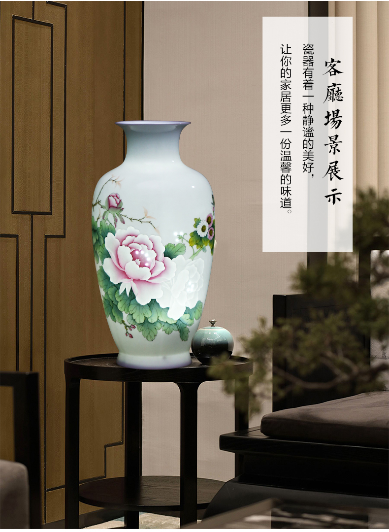 The Master of jingdezhen ceramics hand - made vases and exquisite carving knife clay porcelain large Chinese style adornment furnishing articles