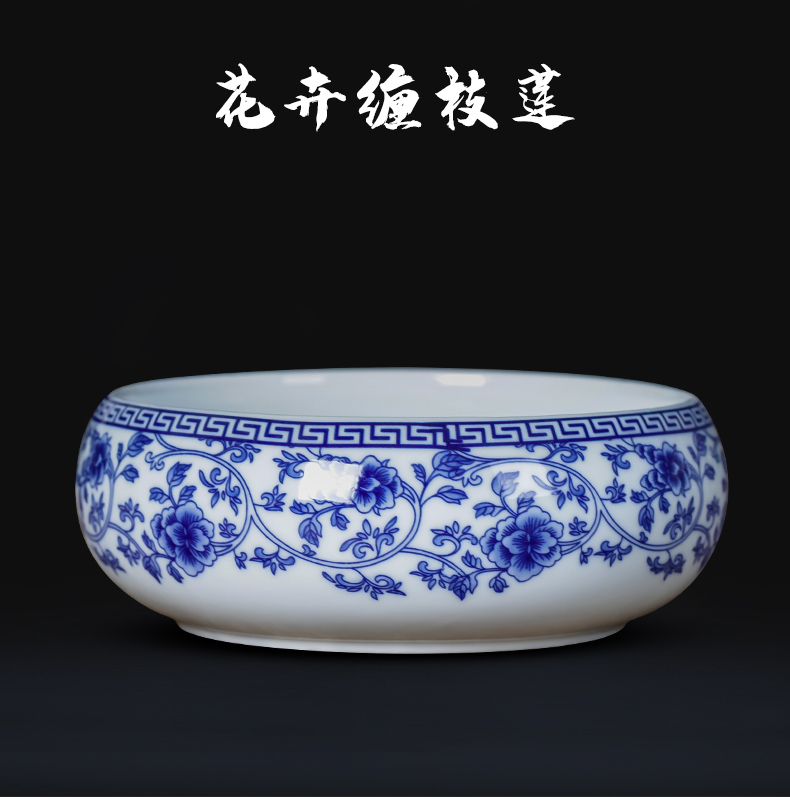 Hong xuan jingdezhen ceramic ashtray creative writing brush washer from Chinese style household porcelain tea house furnishing articles home office supplies
