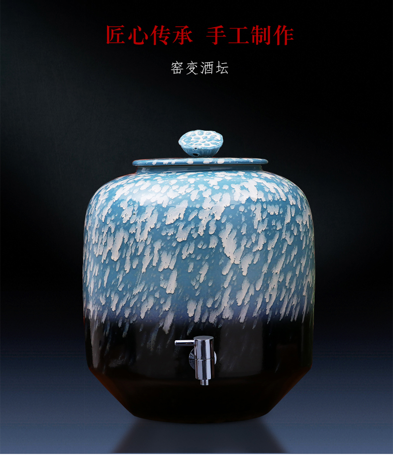 Jingdezhen porcelain large ceramic household it big with cover 15 kg 30 jins 50 kg mercifully it jars with the dragon 's head