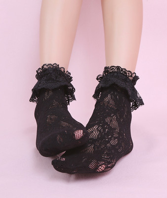 taobao agent 【To Alice】S444 Japanese lace breathable ruffled lace socks
