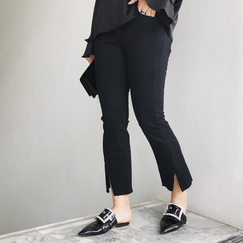 Новая весна и лето женские модели загрузка больших код жир mm джинсы девять очков микро пара брюки женские осел бедро толстый девочки брюки