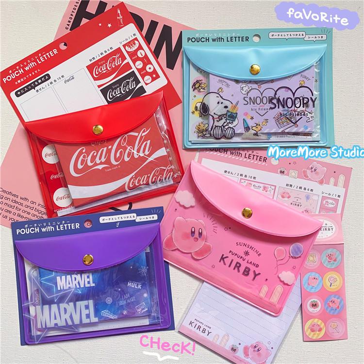 ins日本原宿可乐可爱贴纸信封信纸套装便签本小本子学生文具