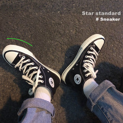 2021 spring and summer new solid color breathable high-top canvas shoes for men and women all-match Korean version of the trend of lovers casual shoes