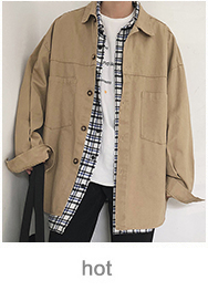 Hồng Kông phong cách mùa xuân mới màu rắn dụng cụ áo khoác Hàn Quốc phiên bản của xu hướng đẹp trai chic jacket sinh viên lỏng đồng phục bóng chày nam