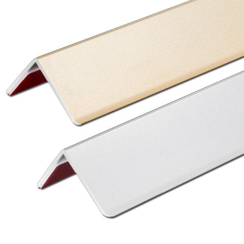 钛铝合金护角条 护墙角保护条墙角护角粘贴免打孔防撞条阳角线