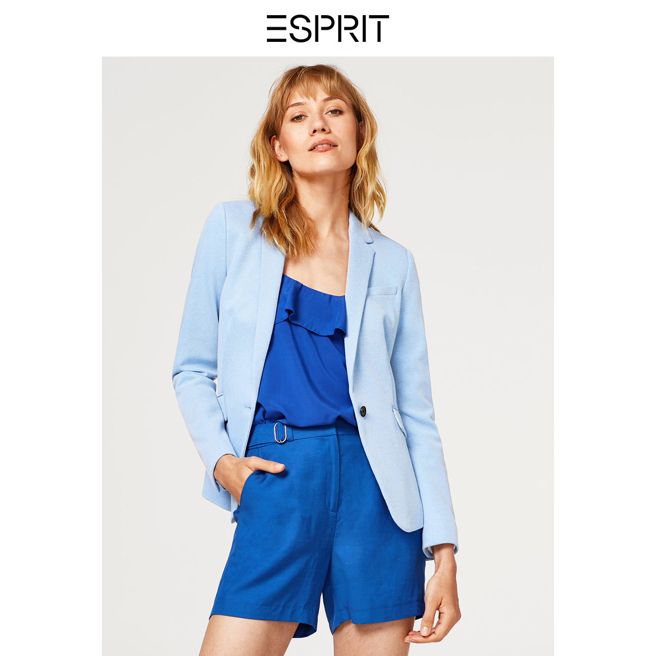 6481ff3ca41 ESPRIT women s summer solid color fashion simple buckle business casual  suit jacket female-038EO1G002 · Zoom · lightbox moreview · lightbox  moreview ...