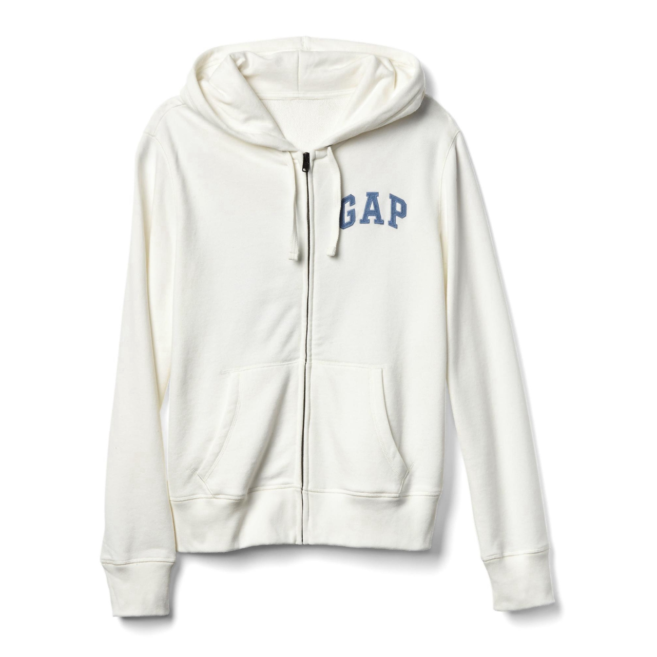 USD 96.10] Gap Mens logo patch Zip Hooded cardigan sweater ...