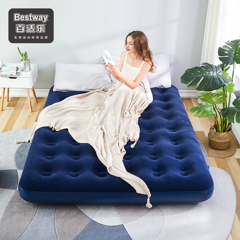 Bestway Bacsi inflatable bed double inflatable mattress home air cushion single outdoor tent portable mat