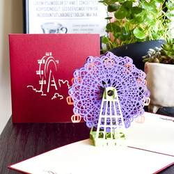High grade universal Thanksgiving 3D three-dimensional greeting card walking gift creative paper carving children's birthday card