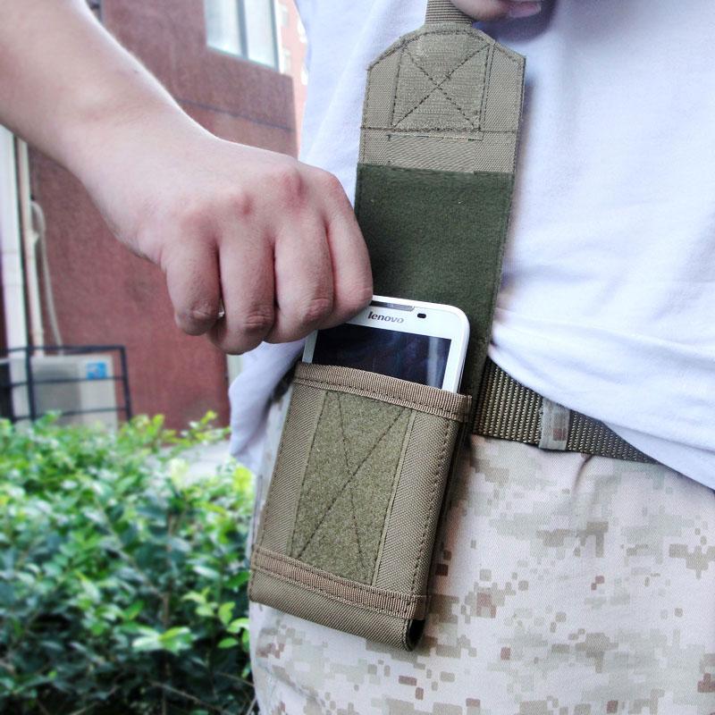 EDC多功能战术手机包 5.5 6寸腰包竖款男户外运动穿皮带手机挂包