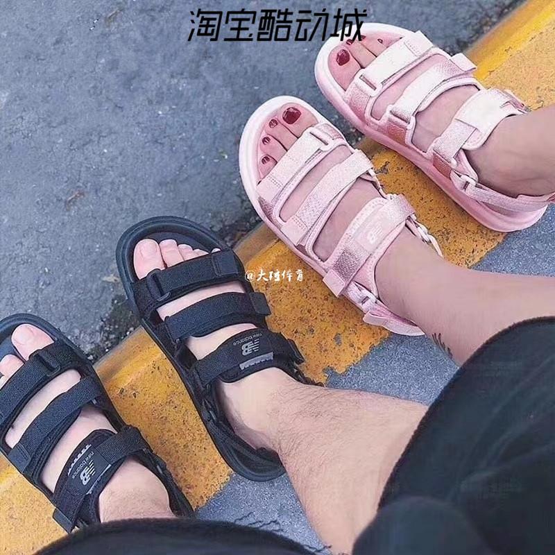 NEWBALANCE/NB情侣贴樱花粉黑沙滩凉鞋魔术拖鞋SD3205PPC/BBW