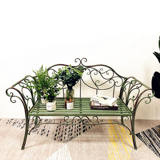 European-style garden chairs Iron Double chair chair outdoor leisure chair park bench park bench chair garden chair