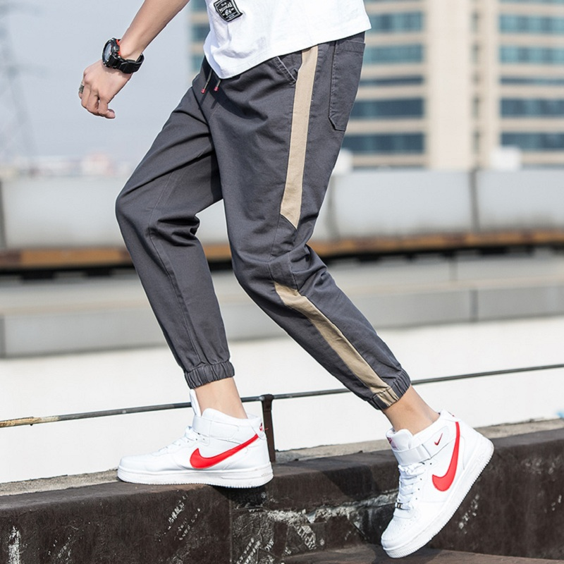 2020 new men's nine-point pants tide pair leggings spring and autumn thin Korean version of the trend spring casual sports pants