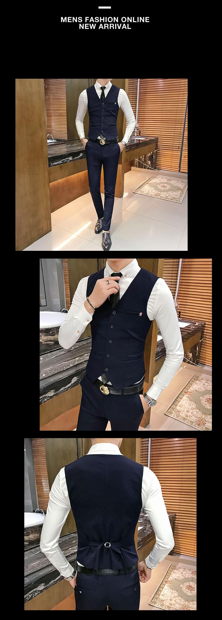 2018新款男装西服纯色英伦风气质款男-X14短款套装-P250