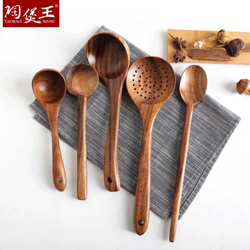 Xẻng gỗ không dính chảo chuyên dụng chịu nhiệt độ cao trong gia đình nấu nồi xẻng gỗ chất lượng muỗng muỗng xào rán - Phòng bếp