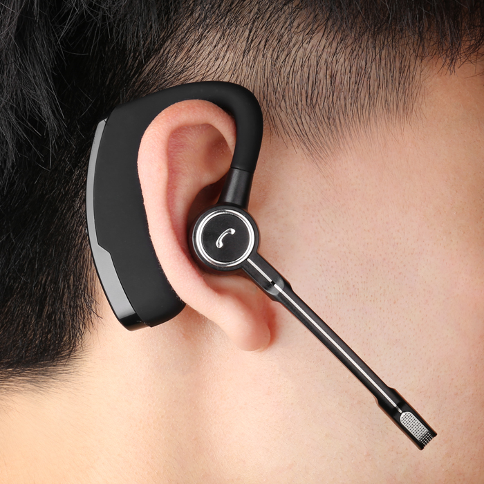 Wireless business Bluetooth headset earbud earplug voice control Android  Apple driving sport universal HD call