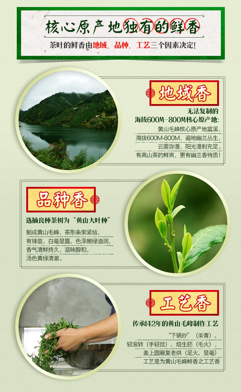 中华老字号 谢裕大 黄山毛峰 100g 图3