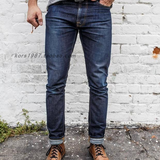 【现货】NUDIE JEANS LEAN DEAN DRY 16 DIPS 意产修身窄脚裤型