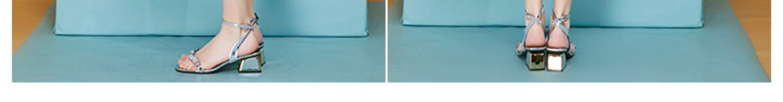 杰西莱新款蓝色波点雪纺v领连衣裙收腰a字裙夏季裙 jessyline商品详情图