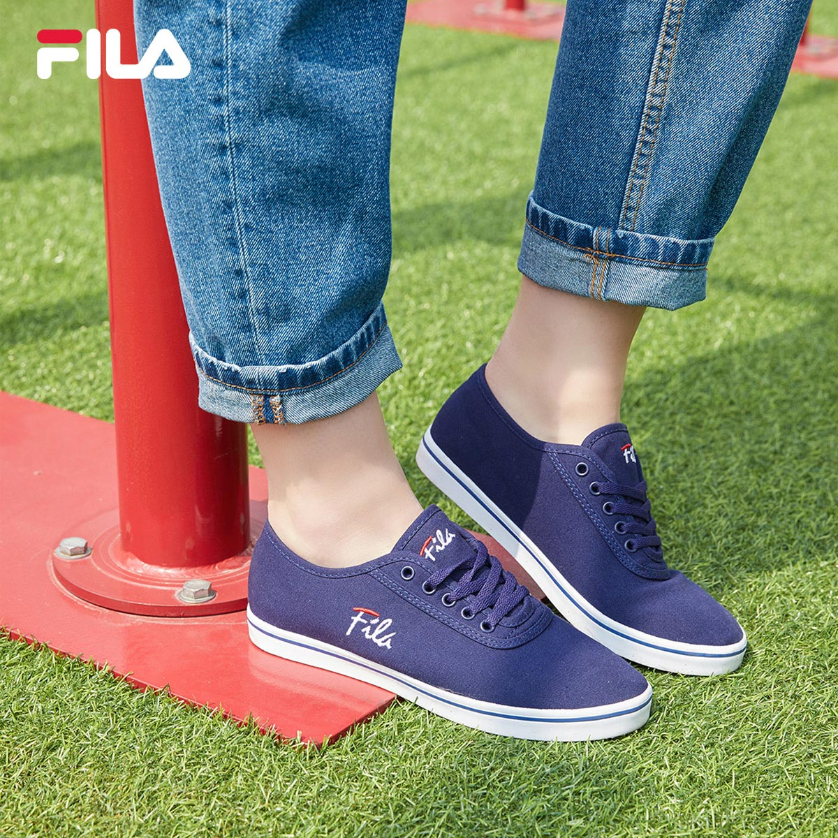 4ca3c15db91f FILA Fila canvas shoes women s shoes 2018 autumn new low help students  Korean version of the