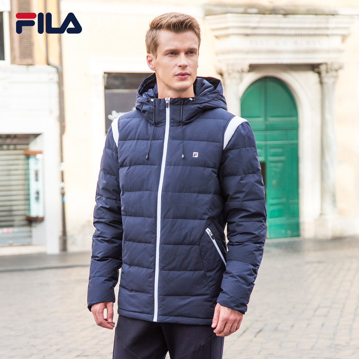 9286acc3b30c FILA Feile men s down jacket winter new warm sports and leisure wind hooded sports  Down Jacket Men